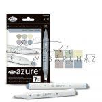 Filctoll készlet, AZURE Premium Marker, 6+1 db-os - Ásvány színek