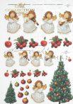Rizspapír karácsonyi angyalkás mintával A4 R174