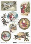 Rizspapír 8 féle karácsonyi mintával A4 R583
