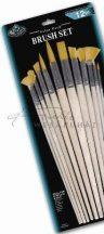 Ecsetkészlet - 12 db-os vegyes - Royal Gold Taklon művészecsetek