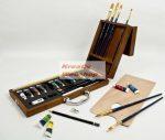 Akrilfestő készlet táskában, 24 részes szett - elegáns fadobozban - Royal Acryl 24