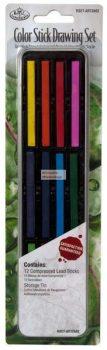 Kreatív hobby - Színes rudak mini készlet - fém dobozban - Royal - 12db