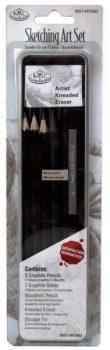 Kreatív hobby - Vázlat és grafit mini készlet - fém dobozban - Royal - 6 00000db