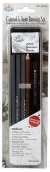 Kreatív hobby - Szén és pasztell mini készlet - fém dobozban - Royal - 12db