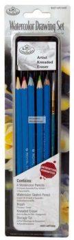 Kreatív hobby - Akvarellceruzák mini készlet - fém dobozban - Royal - 12db