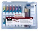 Kreatív hobby - Akvarellfestő készlet  - Divatos áttetsző táskában - Royal kezdő készlet akvarellfes