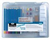 Kreatív hobby - Akvarellceruza készlet  - Divatos áttetsző táskában - Royal kezdő készlet vízzel old