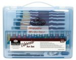 Kreatív hobby - Akvarellfestő készlet  - Divatos áttetsző táskában