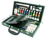 Óriás olajfestő készlet haladóknak, fadobozos - Royal Oil Brush 33 - 36x19x7 cm