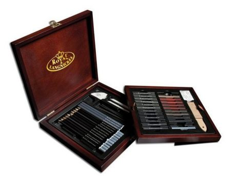 Nagy ceruzakészlet fadobozban - Royal SKETCHING - 50db-os