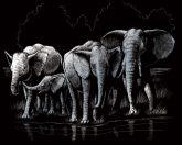 Képarcoló készlet - Elefánt csorda