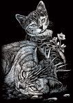 Kreatív hobby - Ezüst - Cicák