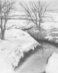 Kreatív hobby - Téli patak