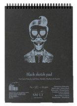 Pasztelltömb - SMLT Black Sketch Pad 165gr - 30 lapos A3