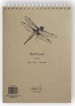Vázlattömb - SMLT Sketch Pad - Krémszínű, 80gr, 100 lapos A4