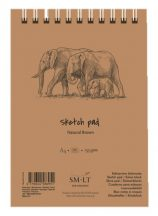 Vázlattömb - SMLT Sketch Pad - Natúr barna, 135 gr, 80 lapos A4