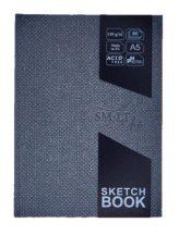 Vázlatkönyv vászonkötésben - SMLT Art watercolor sketchbook - természetes fehér, 120gr, 80 lapos A5