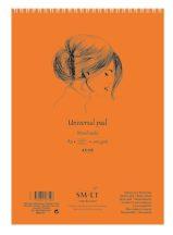 Vázlat- és festőtömb - SMLT Drawing spirálos, mikroperforált - Mixed Media, 200gr, 40 lapos A5