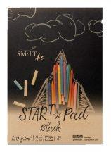 Pasztelltömb - SMLT START PAD Fekete, 120gr, 20 lapos A4