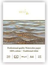 Akvarelltömb - SMLT Art Professional Watercolor 300gr, 10 lapos művésztömb 28x28cm méretű