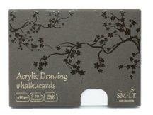 Akril festőkártyák dobozban - SMLT Acrylic haikucards - 420gr, 20 lapos, 14,7x10,6cm