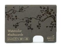 Akvarell festőkártyák dobozban - SMLT Watercolor Cotton haikucards - 300gr, 24 lapos, 14,7x10,6cm