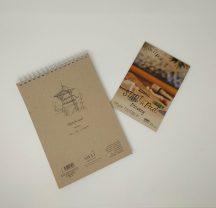 Akciós csomag - SMLT Sketch Pad - Natural 100gr, 50 lap + 5PS Rajztömb - A5 - minőségi fehér papírra