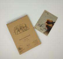 Vázlattömb - SMLT Sketch Pad - Natúr barna, 135 gr, 80 lap