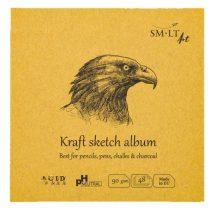Mini album aranybarna - SMLT Kraft sketch album 100gr, 48 lapos, 14x14cm