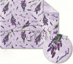 Kartonpapír - Levendula Mediterrán mintás karton, 1 lap