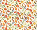 Kartonpapír - Őszi mozaik mókus, madárijesztő, sütőtök mintás karton