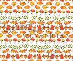 Kartonpapír - Ősz, mókus, makk, tölgyfalevél mintás karton