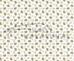 Kartonpapír - Just Married apró, krémszín szívecskék mintás karton esküvői meghívókhoz