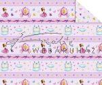 Kartonpapír - Mesevilág Hercegnős, tökhintós, rózsaszín sormintás karton, 29,5x20cm, 1 lap