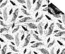 Madár tollak, Színezhető mintás karton, 29,5x20cm
