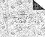 Virágok, Színezhető mintás karton, kétoldalas, 29,5x20cm