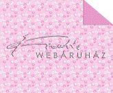 Kartonpapír - Babaváró, rózsaszín Csiga-biga mintás Karton, 1 lap