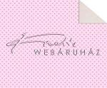 Kartonpapír - Babaváró, Rózsaszín szívecske mintás Karton, 1 lap
