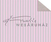 Kartonpapír - Babaváró rózsaszín, csíkos mintás karton, 1 lap