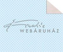 Kartonpapír - Babaváró, kék szívecske mintás karton, 1 lap