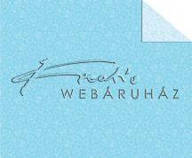 Kartonpapír - Babaváró, kék, mackó mintás karton, 1 lap