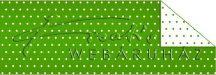 Kartonpapír - Pöttyös, zöld karton, 29,5x20cm, 1 lap