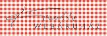 Kartonpapír - Kockás, piros karton, 29,5x20cm, 1 lap