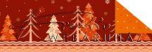 Kartonpapír - Karácsonyi varázslat Csomagolópapír mintázat, fenyőfa és hópelyhek