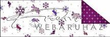 Kartonpapír - Karácsonyi lila Aprómintás karton, rénszarvas, csengettyű és téli motívumokkal