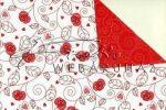 Kreatív hobby - Kartonpapír - Joly Piros rózsás, Karton