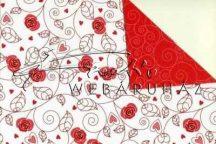 Kartonpapír - Joly Piros rózsás, Karton