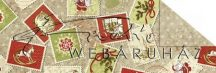 Kartonpapír - Karácsony Vintage karácsony motívumos régi bélyegek mintás Karton, 300g