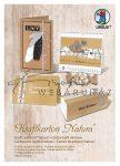 Natúr kartonpapír csomag A/4, 250 g, 16 lap - Csíkozott nátron karton, 4 színben