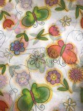 Mintás selyempapír - Fehér, virágos, pillangós